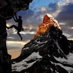 Climber silhouette — Stock Photo #8179239