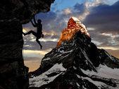 Climber silhouette — Stock Photo