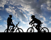 Mountain bikers — Stock Photo