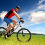 Mountain biker — Stock Photo #8222196