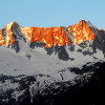 východ slunce nad presanella - Italské Alpy — Stock fotografie