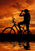 Mountain biker — 图库照片