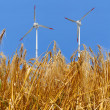 Golden wheat with wind turbine — Stock Photo #8857914