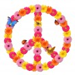 Peace flower symbol - Stock Photo