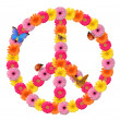 Stock Photo: Peace flower symbol