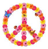 和平花标志 — 图库照片