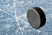 Hockey puck — Stock Photo