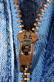 Jeans zipper — Stock Photo