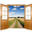 Open the door - Stock Photo
