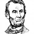 Vector de stock : Abraham Lincoln