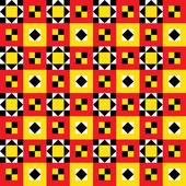 Motif patchwork ethnique — Vecteur