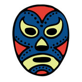 Mexican Wrestling Mask — Stock Vector