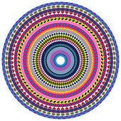 Peace and Love Mandala — Stock Vector
