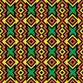 Seamless African Fabric Pattern — Stock Vector