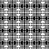 Monochrome Retro Pattern — Stock Vector