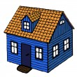 Stock Vector: Small House
