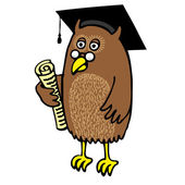 Graduation Owl — Stock Vector