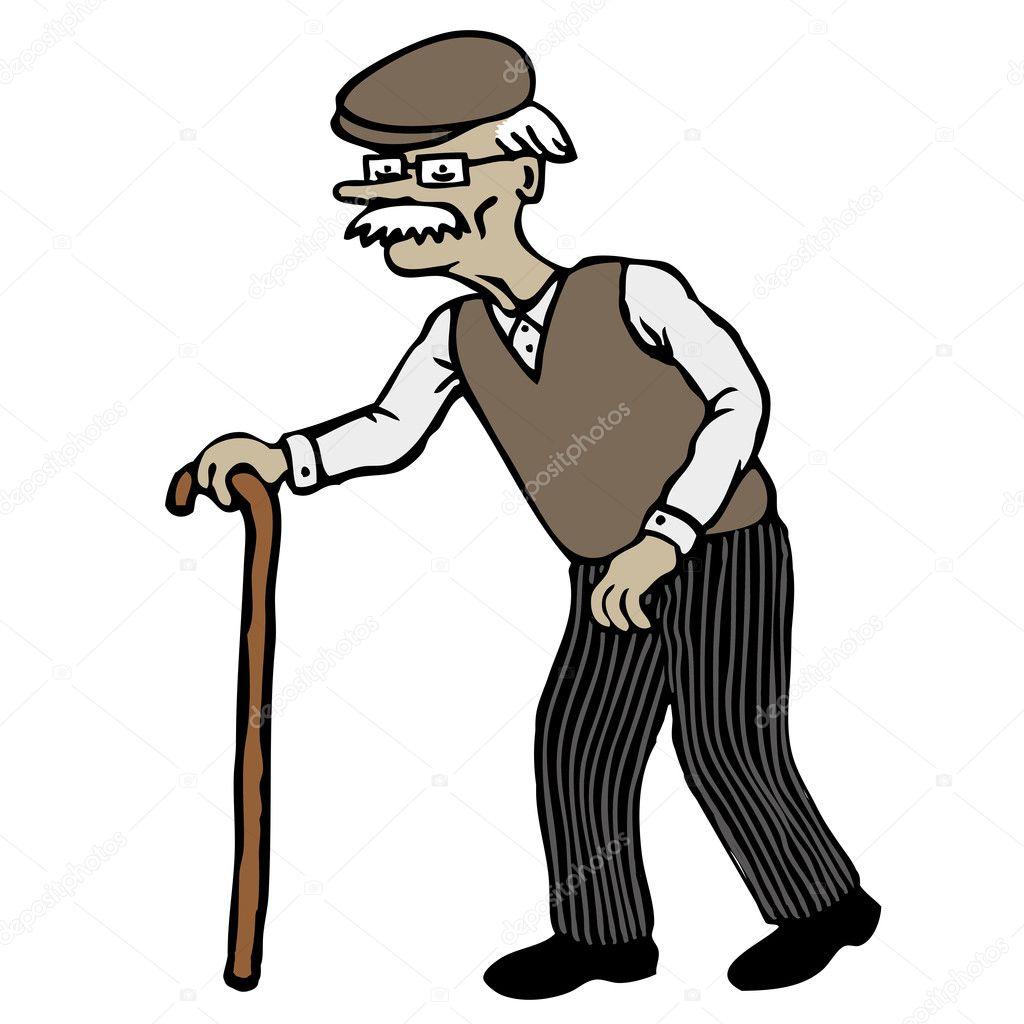 Old Man — Stock Vector © dukepope #8613622 Old Man Walking Cartoon