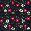 Seamless Flower Pattern - 图库矢量图片