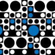 ストックベクタ: Sixties Retro Seamless Pattern