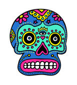 Mexican Skull Art — Stock Vector