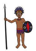 Tribal Warrior — Stock Vector