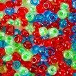 Red, blue and green beautiful beads — Stock Photo #9234544