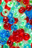 Red, blue and green beautiful beads — Stock Photo