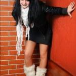 diabeł dziewczynka — Zdjęcie stockowe