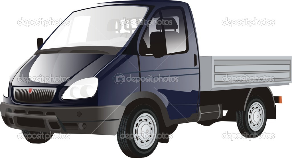 The gray truck with no canopy — Stock Vector #7998127