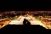 Night lovers on the top of Tuxtla — Stock Photo