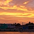 Beatiful sunset in some Mexican town - Stock Photo