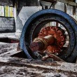 Very big electromotor wheel for air system - Stock Photo