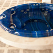 Blue round jacuzzi — Stock Photo #9663992