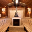 Interior of a russian sauna — Stock Photo