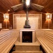 Interior of a russian sauna - Stock Photo