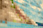 多くの色の陶磁器の壁 — ストック写真