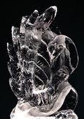 Ice sculpture of swan — Stock Photo
