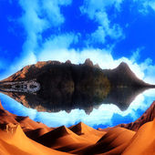Sahara panorama islands — Stock Photo