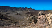 Teide Long Rocks Large Panorama — Стоковое фото