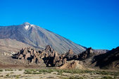 Teide Vulkan from window — Stock Photo
