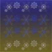 Elegant Snowflakes Basic RGB — Stock Vector
