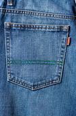 Blue jeans bolsillo en cerrar — Foto de Stock
