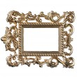 Vintage gold frame with clipping path — Photo