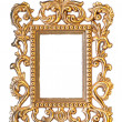 Stock Photo: Elegant, vintage gold frame with clipping path