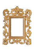 Elegancki, vintage złota rama ze ścieżką przycinającą — Zdjęcie stockowe