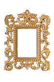 Elegant, vintage gold frame with clipping path — 图库照片