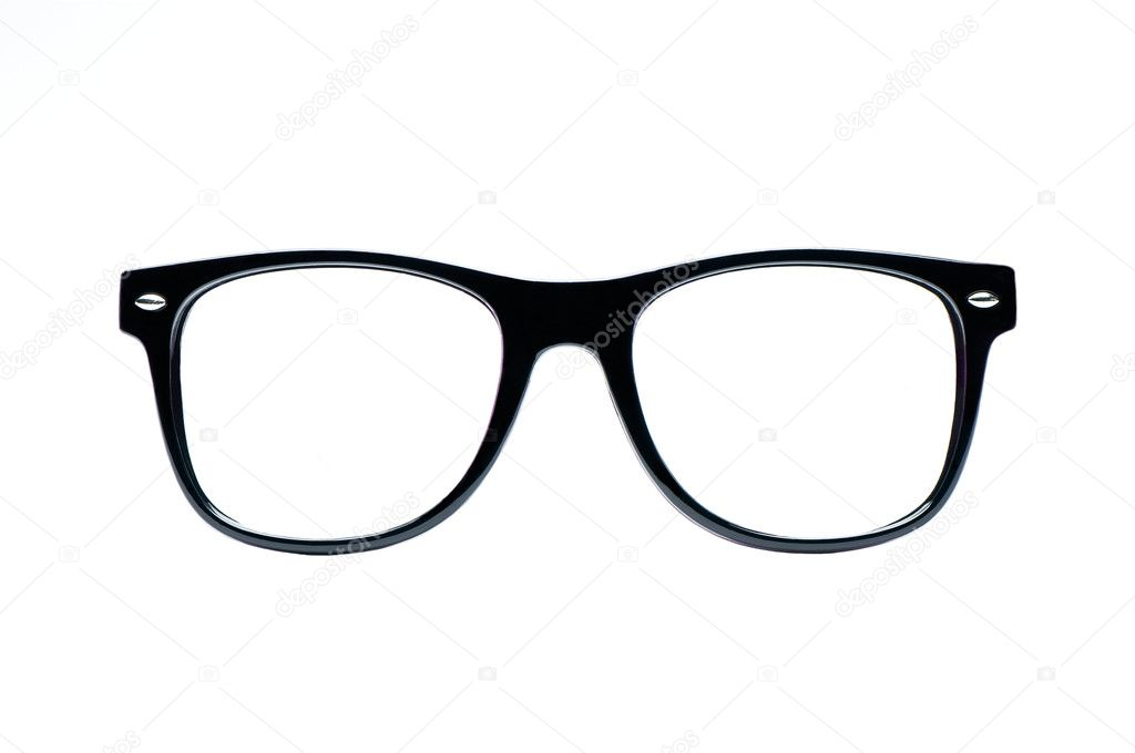 Why Are My Glasses Frames Turning White : Black nerd Glasses with white background with clipping ...