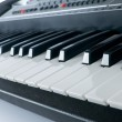 Synthesiser piano keyboard on white background — Foto de Stock