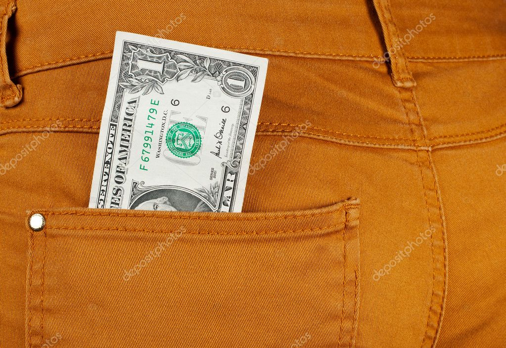 Money in jeans pocket,closeup — Stock Photo #9917958
